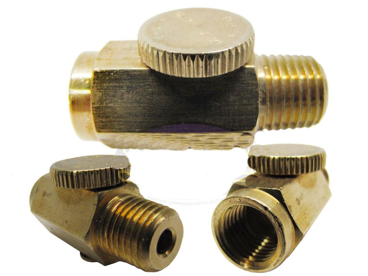 1/4 NPT Inline Regulator Solid Brass Compressed Air Pressure Valve Tool New Air Compressor