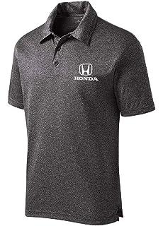 Genuine Honda Men/'s Black Polo Shirt with Red Logo