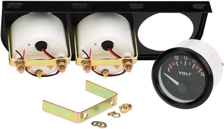 Car 52mm Electronic Triple Gauge Kit Oil Pressure Water Temperature Gauge Voltmeter 3 in 1 Car Motorcycle Meter