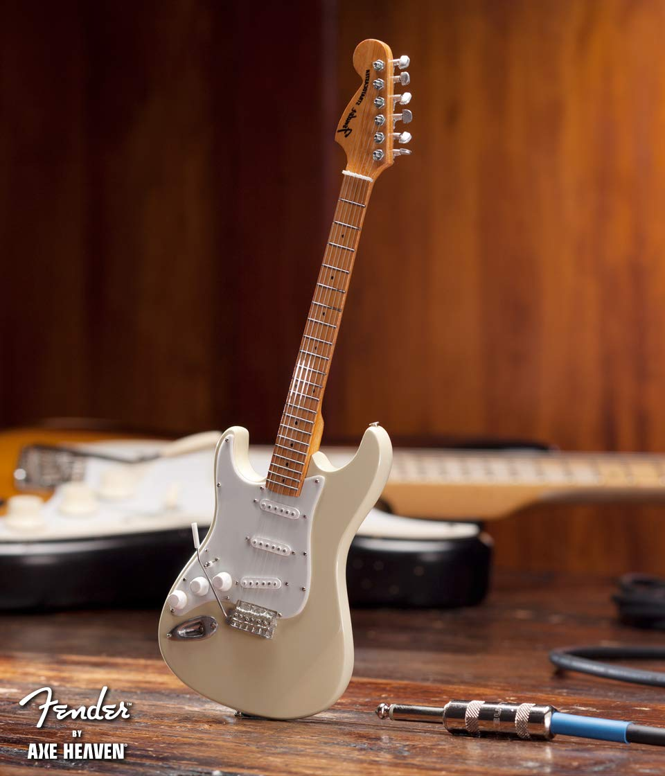 Jimi Hendrix Fender Cream Reverse Headstock Strat Miniature Guitar Replica - Officially Licensed