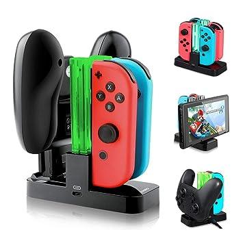 Base de Carga 4 en 1 Cargador para Nintendo Switch Joy-Con ...