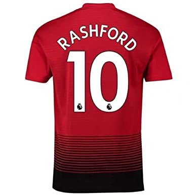 quality design faab4 87144 Rashford Jersey Mens #10 Manchester United FC Home Football Soccer T-Shirt  Jerseys Red (S-XL)