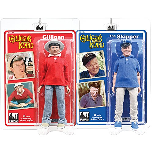 Gilligan's Island 8 Inch Action Figures Series 1: Set of 2 Figures