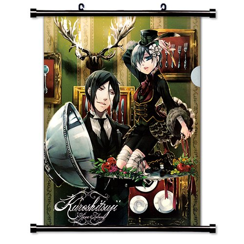 Black Butler Anime Fabric Wall Scroll Poster  Inches. Black