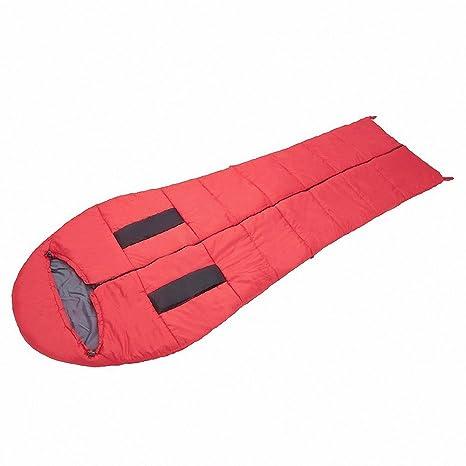 SUHAGN Saco de dormir Portátil Exterior Sleeping Bags Camping Bolsas De Dormir, Gules