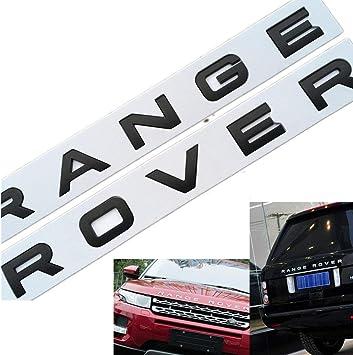 2 X MATTE BLACK RANGE ROVER LETTERING L322 SPORT P38 FRONT REAR CLASSIC EVOQUE