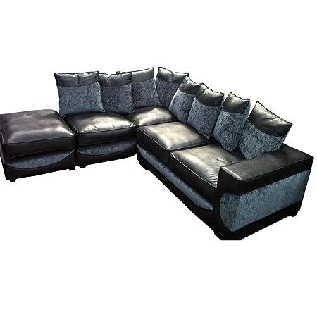 Outstanding Halo Chaise Corner Sofa Black Grey Fabric Corner Sofa Lamtechconsult Wood Chair Design Ideas Lamtechconsultcom