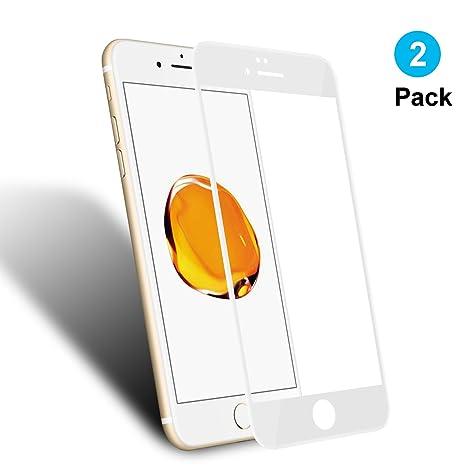 0a5e8d5f549 2 Unidades Cristal Templado iPhone 7 iPhone 8 4.7'', WEOFUN 3D Pantalla  Completa