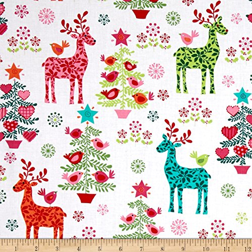 Michael Miller Nordic Holiday Nordic Holiday Multi Fabric by the Yard - Michael Miller Christmas Fabric