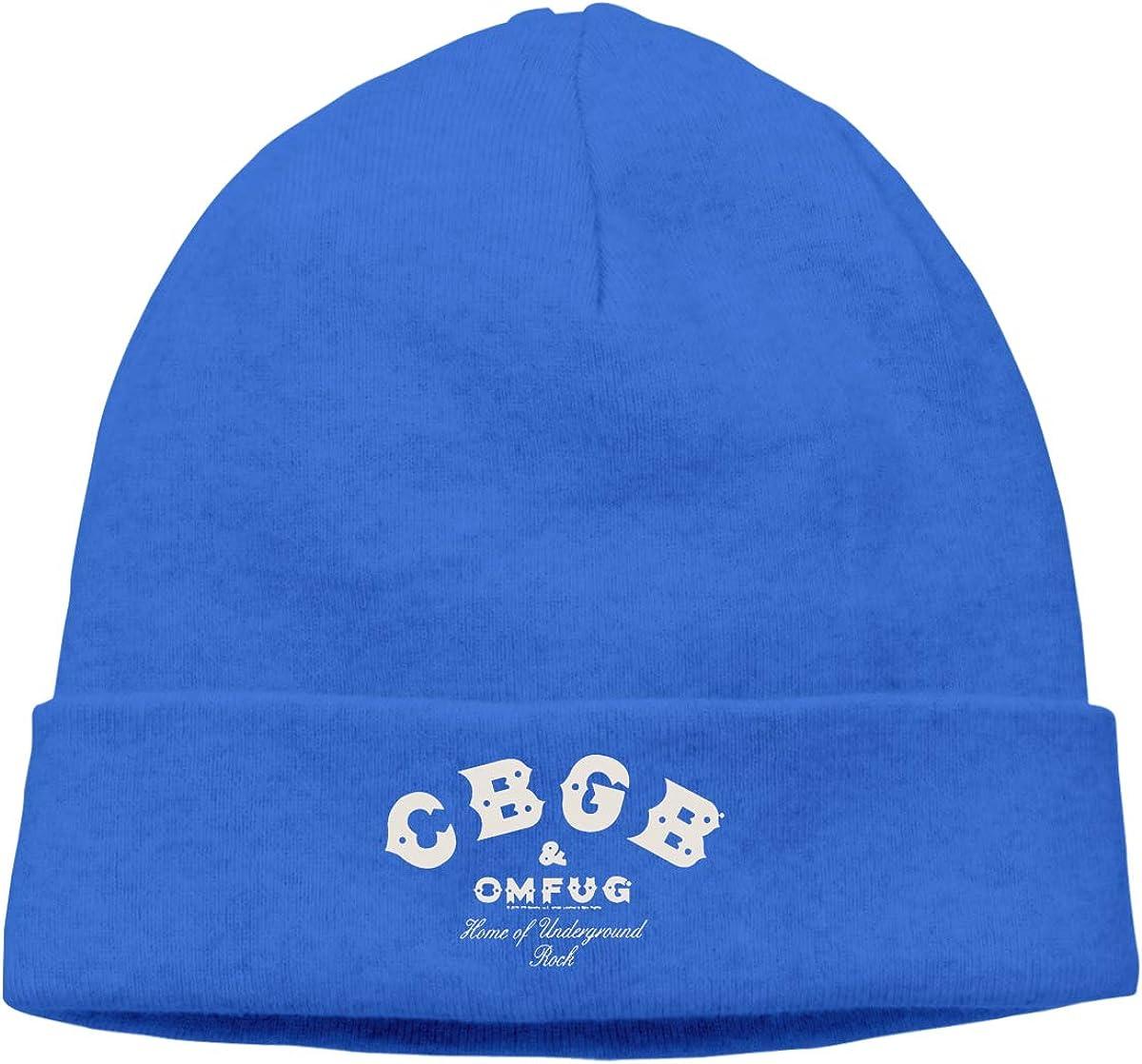 CBGB New York Unisex Cuffed Plain Skull Cap Stretchy Soft Beanie Hat