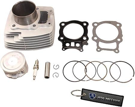 .060 Over Bore Piston /& Top End Gasket Kit 2000-2006 Honda Rancher 350 80mm