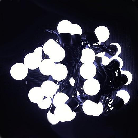 Cozy sombrero blanco luces LED bombilla corriente para holiday adornos de Navidad con connettore detrás de