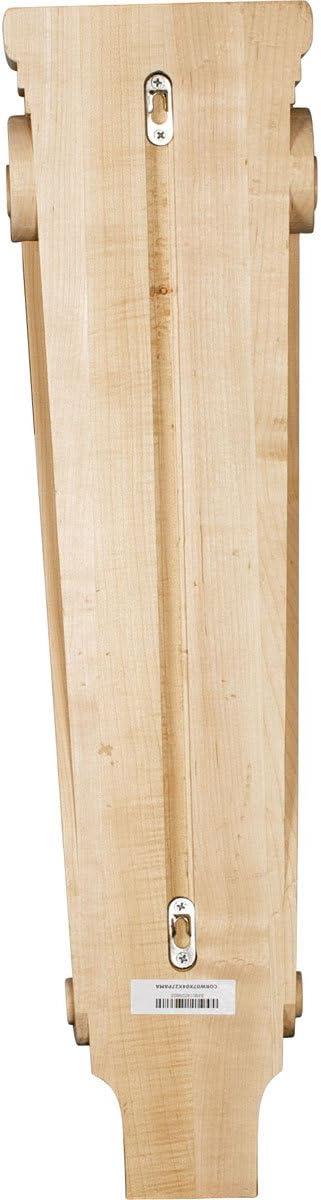 Ekena Millwork Corw07x04x27paro 6 3 4 Inch W X 4 1 4 Inch D X 27 1 2 Inch H Extra Large Acanthus Pilaster Corbel Red Oak Millwork Corbels Amazon Com