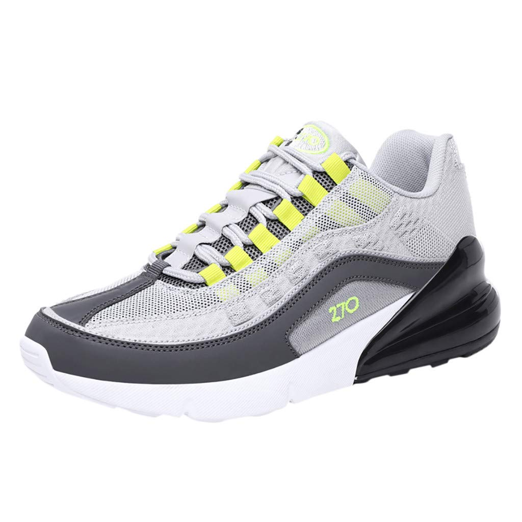 Sneakers for Men 2019, Caopixx Men's Running Shoes Athletic Outdoor Sports Hiking Shoes Gray