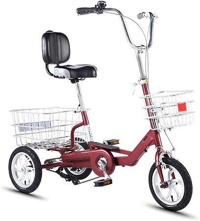 14inch Triciclo For Adultos Bicicleta 3 Ruedas For Los Adultos Tres De Bici For Los Adultos Adultos Adultos con Trike Carrito Y De Doble Disco De Freno De Aluminio Adultos Montaña Trikes: