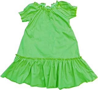 product image for Cheeky Banana Baby/Toddler Girls Solid Color Peasant Dress Lime