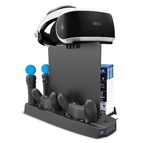 Soporte Vertical de Carga PSVR, Stand Vertical PS4 Pro /PS4 ...