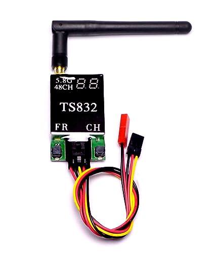 amazon com: 5 8g 48ch ts832 fpv transmitter 600mw 5km long range audio  wireless video transmitter module for racing drone: toys & games