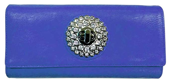 fc0184372f Image Unavailable. Image not available for. Colour: Rhysetta Women's Wallet  Designer Clutch / Ladies Wallet Branded Purse / Bag - BLUE