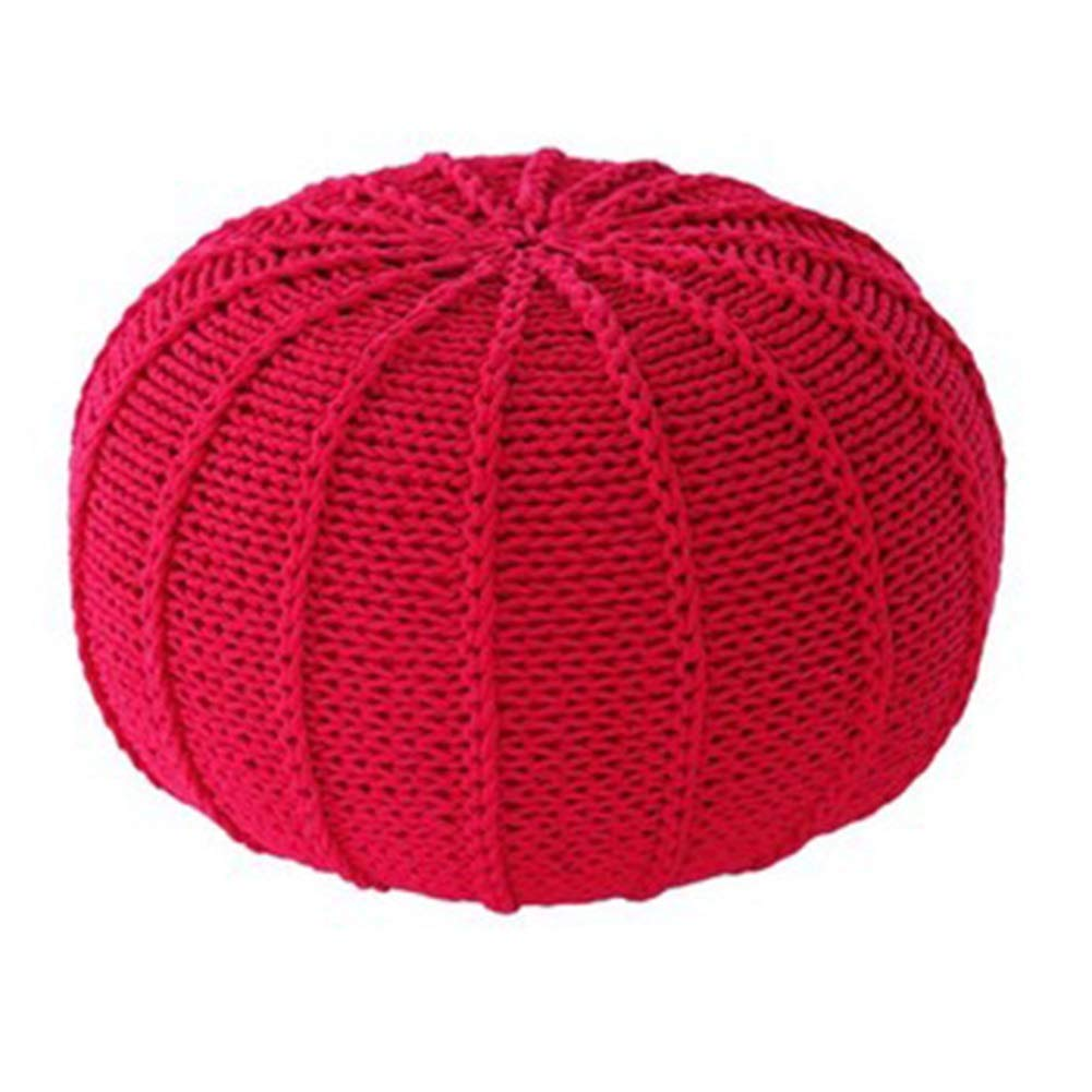 Red A 35x35x25cm LSXIAO Pouffes And Footstools Cotton Thread Hand Made Washable Comfortable Environmentally Friendly, 15 colors, 4 Sizes (color   Yellow, Size   35x35x25cm)