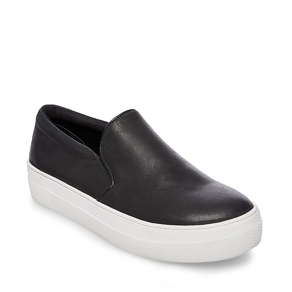 Steve Madden Women's Gills Sneaker B078XK1Y2Q 7.5 B(M) US|Black Leather
