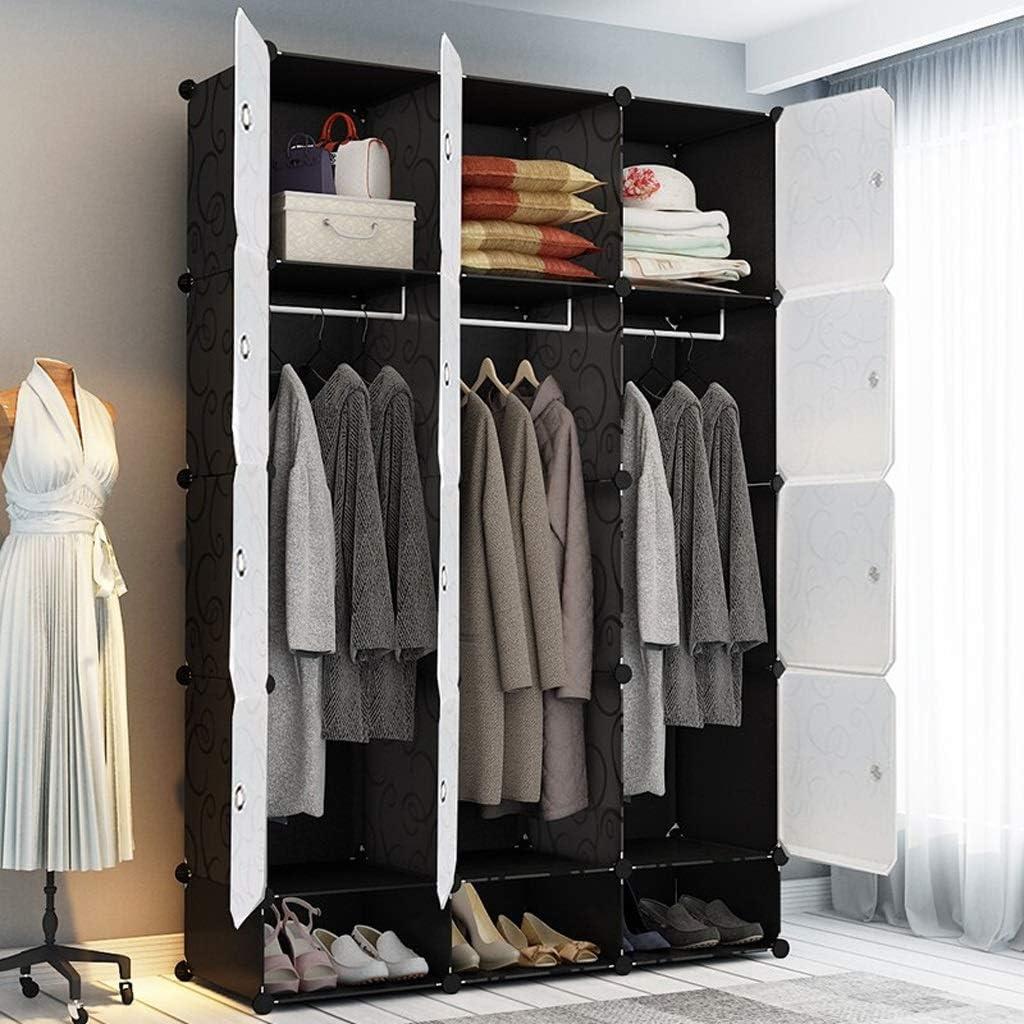 Portable Wardrobe Bedroom Convenient Wardrobe Double Folding Resin