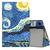MoKo Case for All-New Amazon Fire HD 8 Tablet (7th/8th Generation, 2017/2018 Release) - Slim Folding Stand Cover for Fire HD 8, Starry Night (with Auto Wake/Sleep)