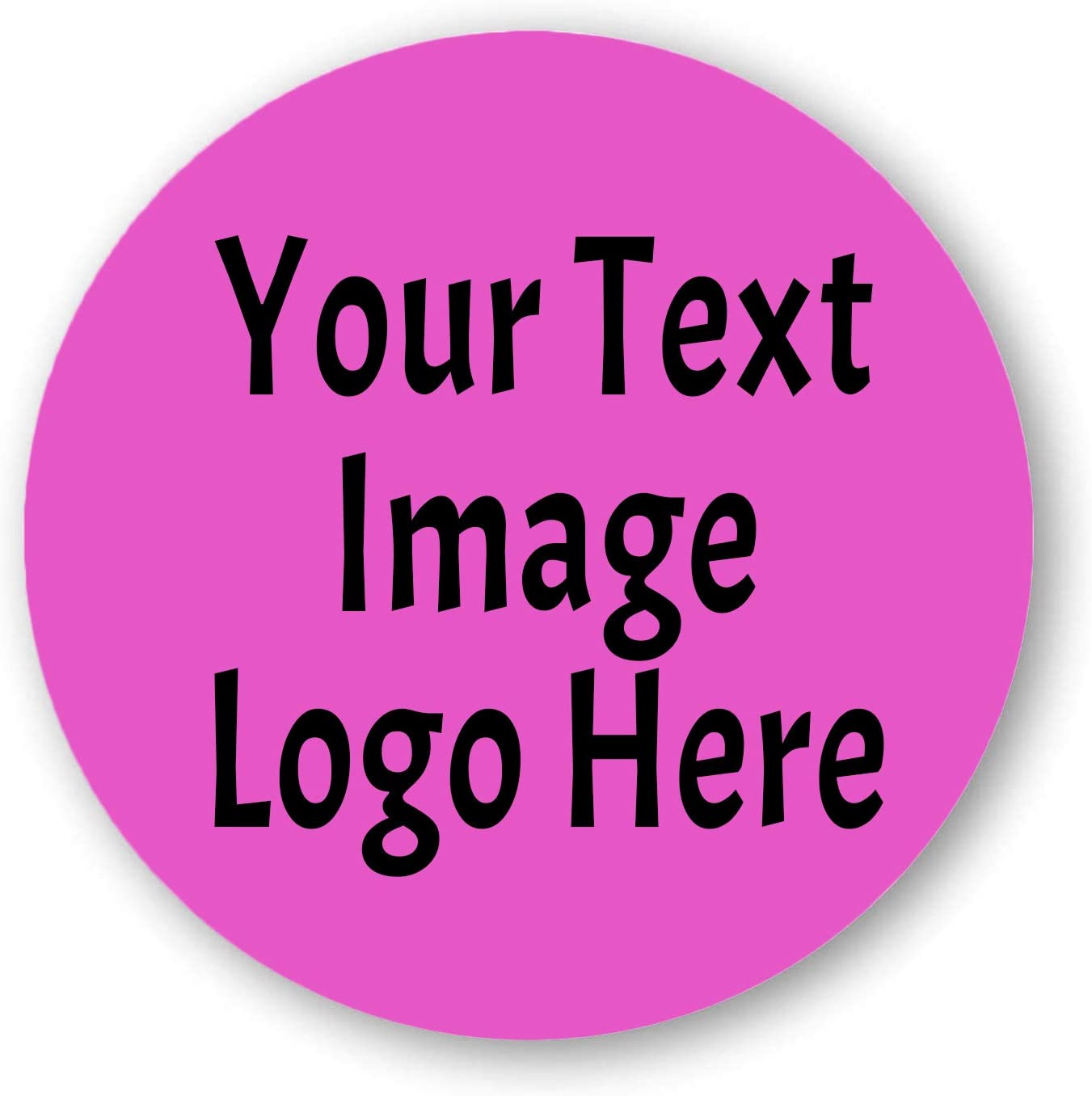140 pcs Custom Sticker Personalized Business Text Logo Image Tag Labels 1.37
