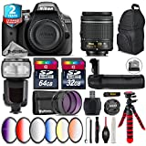 Holiday Saving Bundle for D3300 DSLR Camera + AF-S 35mm f/1.8G DX Lens + AF-P 18-55mm + 500mm Telephoto Lens + 6PC Graduated Color Filter Set + 2yr Extended Warranty + Battery - International Version
