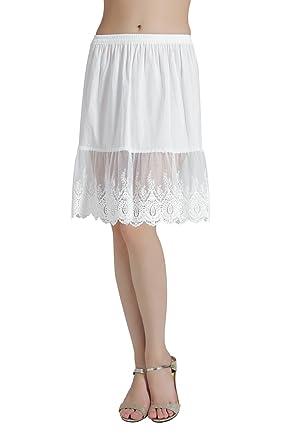 1f3e26dba188 Femme Jupon Dentelle Lingerie sous-Jupe Robe Coton Blanc Noir Ivoire Court  Mi-Long pour Marige Fille  Amazon.fr  Vêtements et accessoires