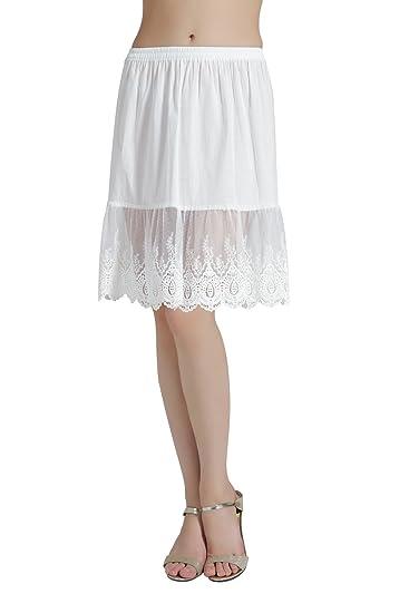 Femme Jupon Dentelle Lingerie sous-Jupe Robe Coton Blanc Noir Ivoire Court  Mi-Long pour Marige Fille  Amazon.fr  Vêtements et accessoires 8e668d5df1eb