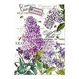 Michel Design Works Cotton Kitchen Dish Towel, Lilac/Violets