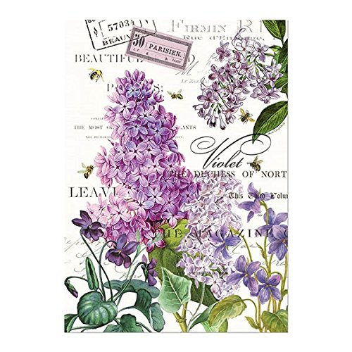 Michel Design Works Cotton Kitchen Dish Towel, (Lilac Kitchen)