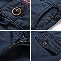 INFLATION-Mens-100-Cotton-Wild-Casual-Pants-For-Mens-Slim-Fit-Cargo-Pants-Work-Pants-Trousers-closeup pockets
