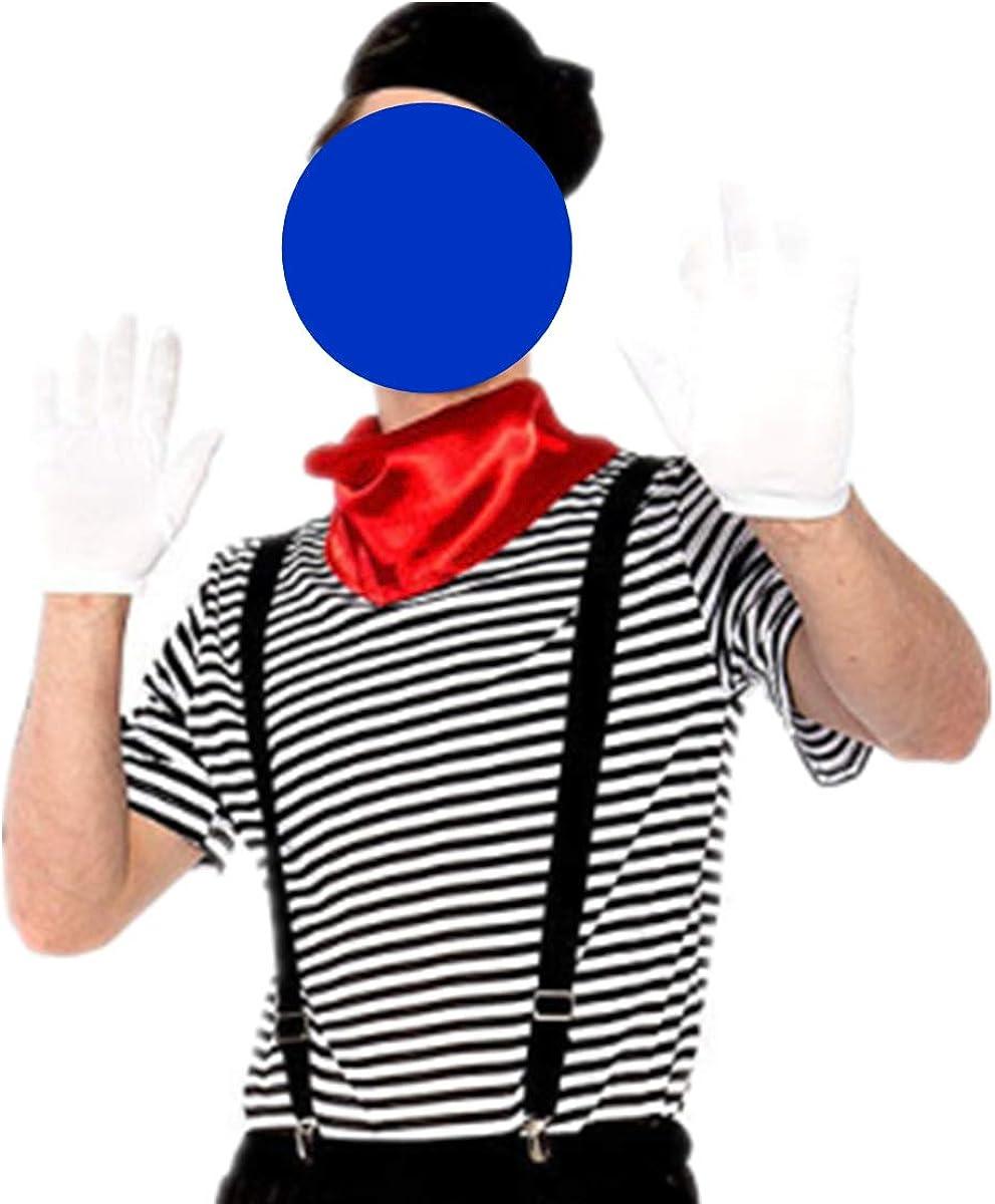 MSemis Disfraz Artista Francés Mime para Adulto Sombrero de Boina ...