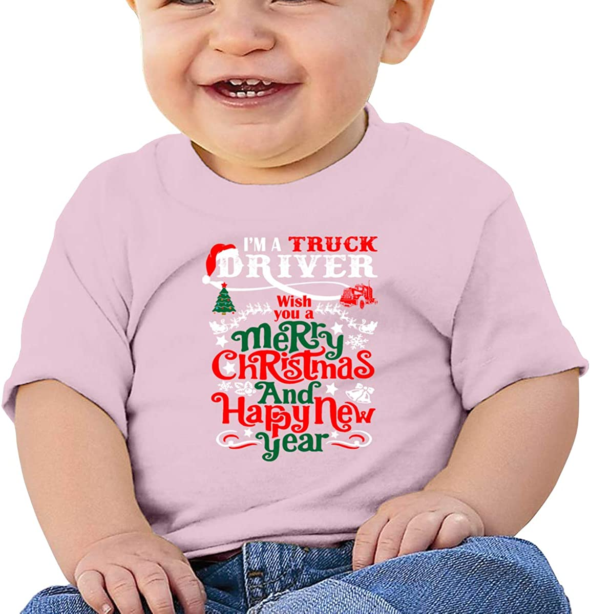 Im Truck Driver Wish You A Merry Christmas and Baby Girls Cotton Tee Newborn