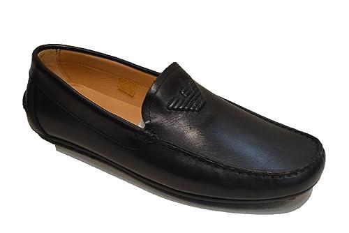 4980f8e176 Emporio Armani Men's Driving Shoes (UK8, Black Leather): Amazon.co ...