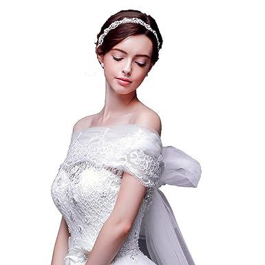 6931b23524b72 (HeartSunny) 結婚式ボレロ レースストール P020 ソフトチュールロングリボン 透明花柄
