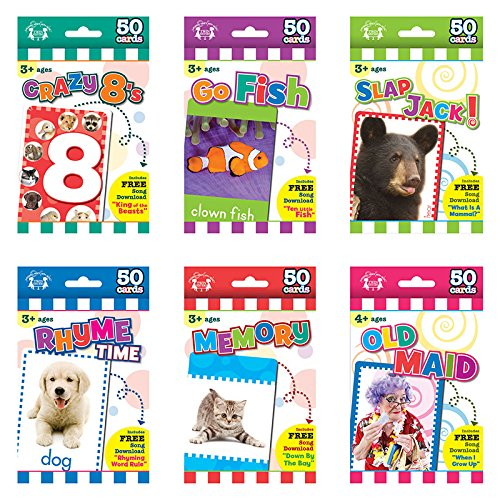 - Twin Sisters Flash Cards Games - Set of All 6