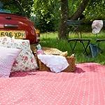 Extra Large Picnic Blanket - Red Polk...