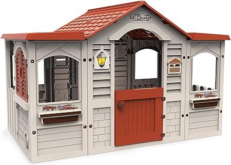 Chicos Casita Infantil de Exterior Le Chalet, Color Beige con tejado Rojo (La Fábrica de Juguetes 89650): Amazon.es: Juguetes y juegos
