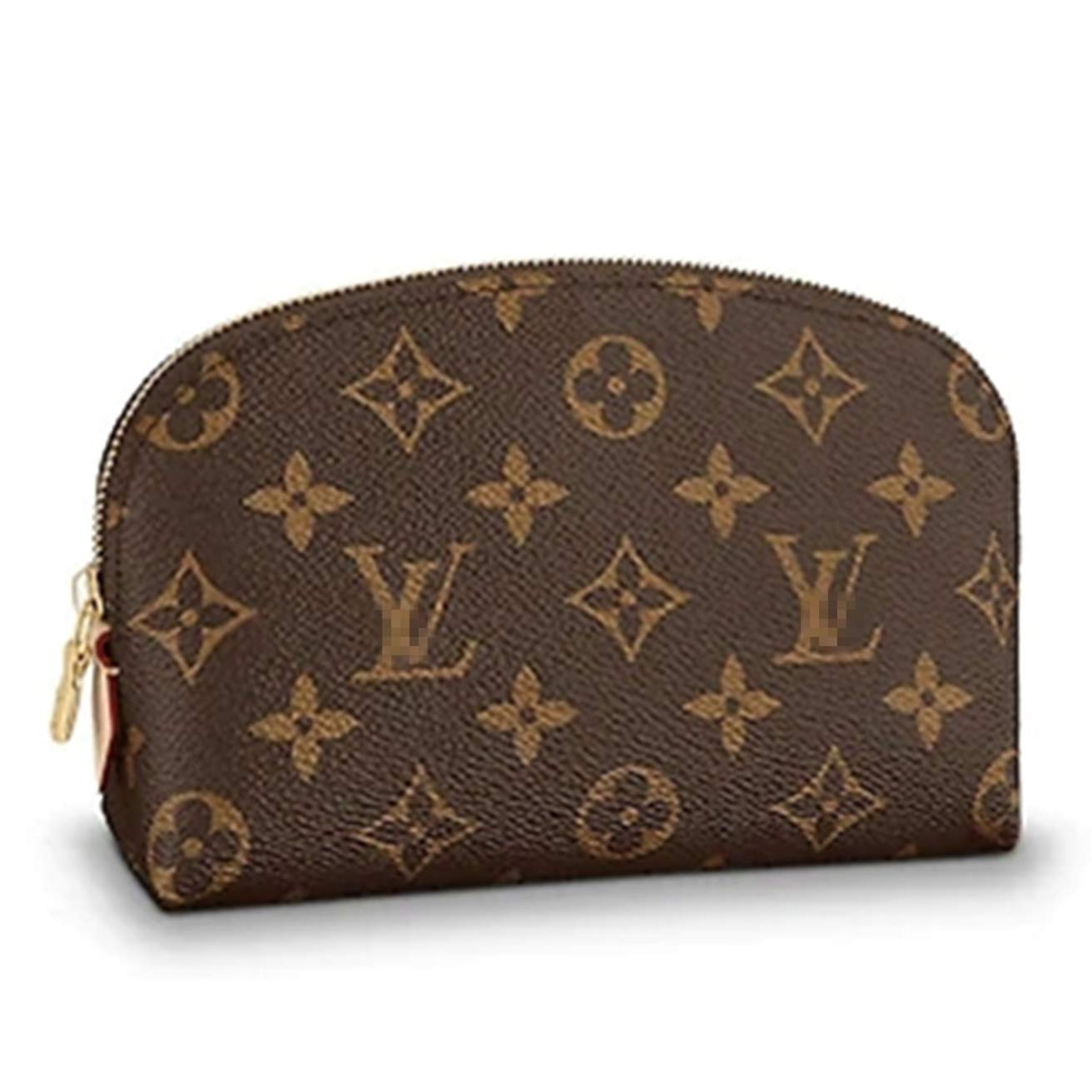GOEYY BAG Monogram Canvas Cosmetic Bag with Zipper for Women