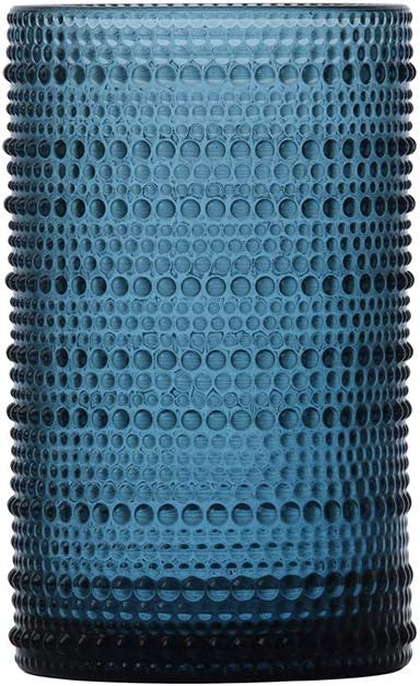 D&V By Fortessa Jupiter Iced Beverage Glass, 13 Ounce, Set of 6 (Cornflower)