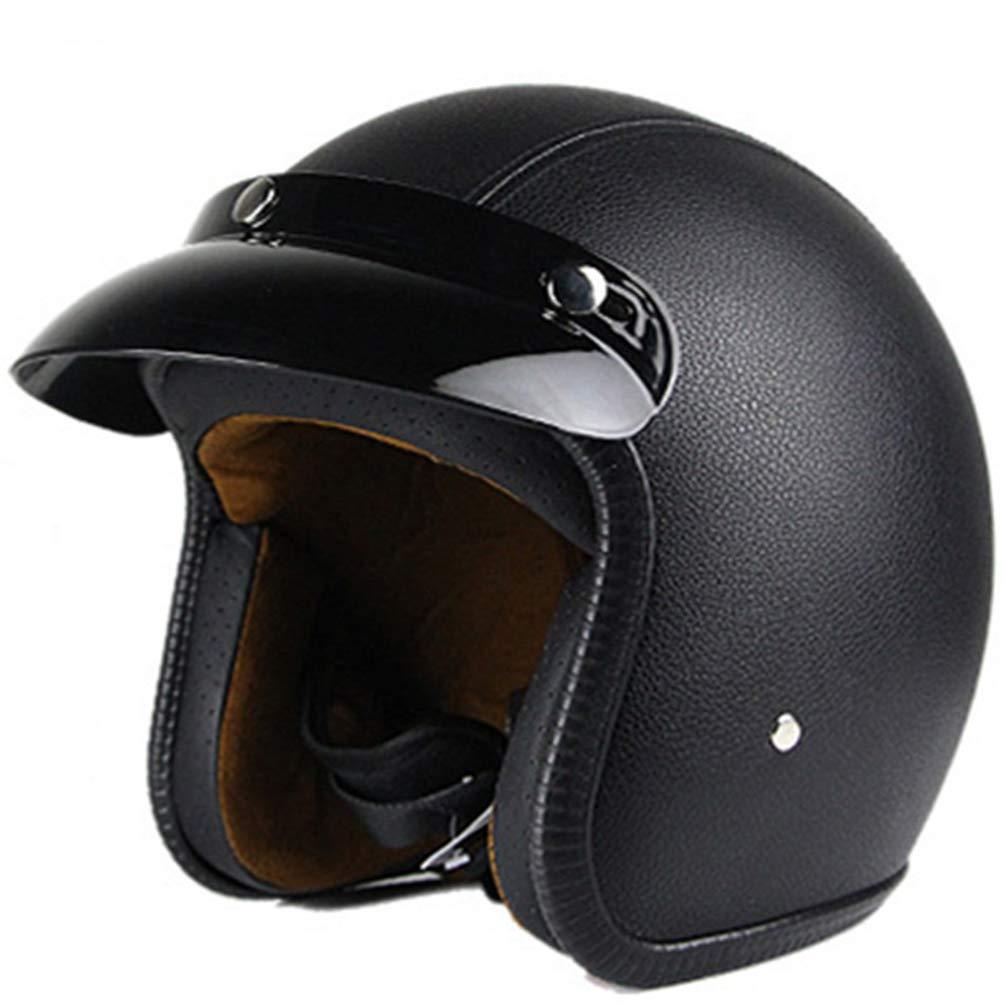 Qianliuk Heiße Motorrad-Helm-Maske Flip up Vismotorbike Motocross Jet Retro Helm Vintage Open Face Helm