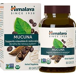 Gut Health Shop 61Ryq0WrYZL._SS300_ Himalaya Organic Mucuna Pruriens / Kapikachhu, Equivalent to 3,706 of Mucuna Pruriens Powder for Calm & Relaxation 60…