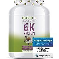 Nutri-Plus Shape & Shake 1kg - Aspartamfreier Eiweißshake - Mit Whey + Casein - Dose inkl. Dosierlöffel