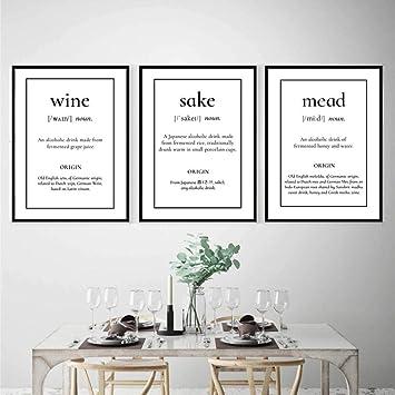 Lienzo de arte en la pared del vino, pósters, estampados ...