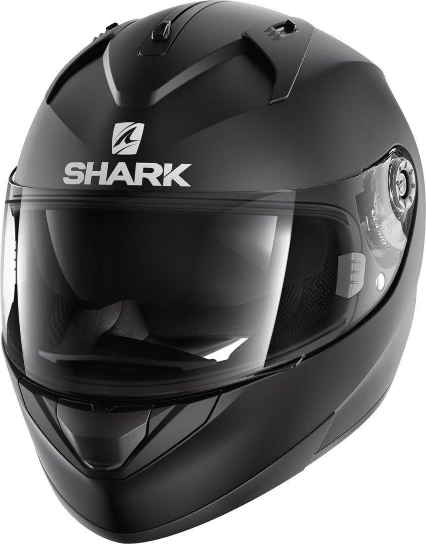 Negro Shark Casco de moto RIDILL BLANK Mat KMA S