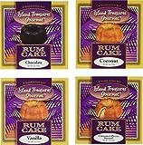 Rum Cake Assortment/Sampler Pack 4-4 ounce Rum Cakes