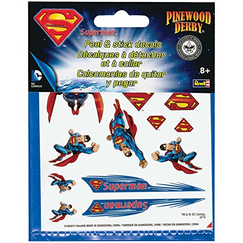 Pine Wood Derby Car Accessories (Revell Pinewood Derby Superman Peel & Stick Decal)